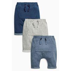 Lot de 3 pantalons de jogging gris, bleu marine et bleu (0 à 2 ans) layette Next.