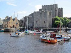 Castletown Harbour with Castle Rushen