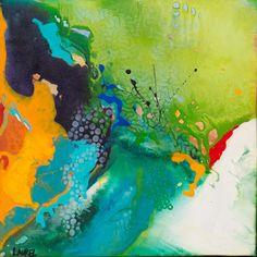 A Small Amusement. Acrylic on Canvas 16 x 16 inches. Laurel Sheridan