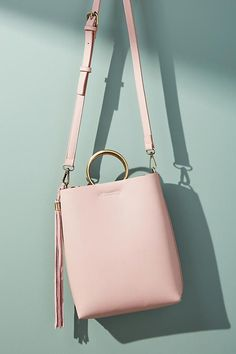 Slide View: 1: Morgan Tote Bag Circular handles are a unique addition to this everyday tote. #Affiliate #shoulderpurses