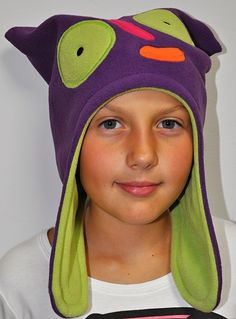 New winter 2012 collection   fleece hat monster