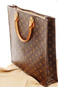 Louis Vuitton Sac Plat GM Monogram Authentic Women's Tote Hand Bag