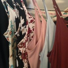 My Jada Collection!❤️ My small but mighty collection of Brandy Melville Jada dresses!! I am so in love with these and am always looking for more! Might sell a few of mine, leave offers if your interested. •Maroon •Pink •Baby Blue •Red Rose •Black and White Blossom •Cerulean Brandy Melville Dresses Mini