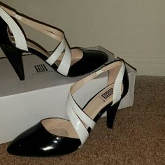 Tuesday Sale High heels Black and white high heels . i don't think that this is leather. Shoes Heels