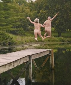 Image result for older couples skinny dipping