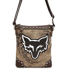 Western Cowgirl Fox Rhinestone Belt Design Messenger Bag #GetEverythingElse #MessengerCrossBody
