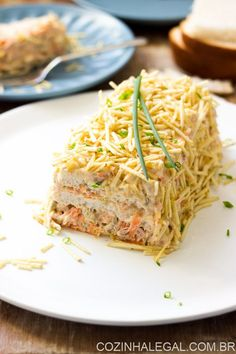 Torta fria de atum simples (fácil e rápida), Food Network Recipes, Wine Recipes, Cake Sandwich, Brazillian Food, Cook N, Light Snacks, Salty Foods, Food Tasting, Food And Drink