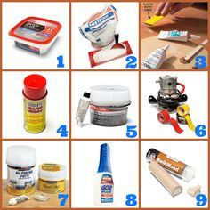 16 Amazing Repair Products for your home (here are 9 of them - click to see all 16! http://www.familyhandyman.com/smart-homeowner/diy-home-improvement/amazing-repair-products)