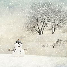 ✻BugArt Christmas Landscapes ~ Snowman. CHRISTMAS LANDSCAPES Designed by Jane Crowther. Original Art Photography by Lynnette Henderson.