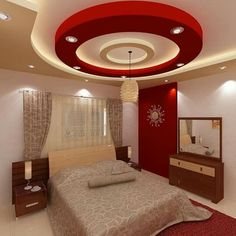 House Arch Design, House Ceiling Design, Ceiling Design Living Room, Bedroom Pop Design, Bedroom Furniture Design, Interior Ceiling Design, Bedroom False Ceiling Design, Luxurious Bedrooms, Platform