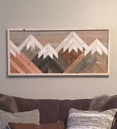 Reclaimed Wood Wall Art Mountain Scene Mantel Art Cabin Decor Rustic Style Cozy Over Sized Wooden Mural Natural Wood Stained by HollyBeeandCompany on Etsy Reclaimed Wood Wall Art, Rustic Wood Walls, Wood Art, Reclaimed Lumber, Wall Wood, Diy Wood, Metal Art, Rustic Style, Rustic Decor