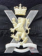 The Cap Badge of the Royal Regiment of Scotland.