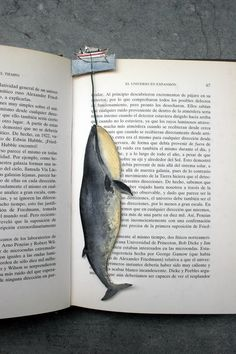 A cleaver bookmark by Silvia Cairol via Fuck Yeah, Book Arts!