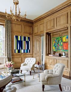 Allan Greenberg and Elissa Cullman Design a Federal-Style Mansion in Houston - Architectural Digest Traditional Interior, Traditional Design, Classic Interior, Architectural Digest, Federal Style House, Oak Panels, Modern Mansion, Home Libraries, Interiores Design