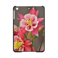 Pink columbine flowers iPad Mini Case on CafePress.com