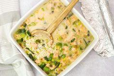 No-stir risotto with salmon, leek and peas - MyKitchen - Mas & Pas