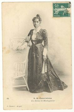 Her Majesty Ranavalona, former queen of Madagascar [b. 1861; reigned 1883-1897; photo c. 1905; died 1917]    Date:      ca. 1905