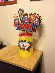 Super Hero Centerpiece  for Back to school theme