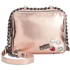 Circus by Sam Edelman Cash Crossbody with Pins (1,465 MXN) ❤ liked on Polyvore featuring bags, handbags, shoulder bags, rose gold, pink crossbody purse, circus by sam edelman, pink cross body purse, crossbody purse and pink crossbody