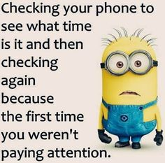 Minion checking phone to see what it is!