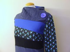 BLACK GARDEN  Hoodie Sweatshirt Sweater  Recycled by MungoCrafts