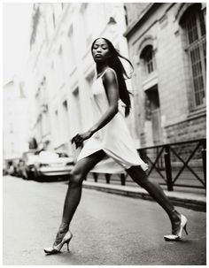 Naomi Campbell in The Allure of Alaia for Elle, October 2001 Shot by Gilles Bensimon Styled by Carlyne Cerf de Dudzeele