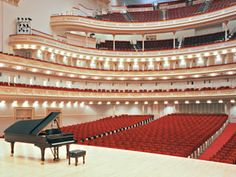 Carnegie Hall Tours - Tours are offered Monday through Friday at 11:30am, 12:30pm, 2:00pm and 3:00pm; Saturdays at 11:30am and 12:30pm; and Sundays at 12:30pm.