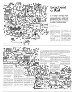 How I Work - Google - Colab - Hero and more ;) by Jonathan Calugi, via Behance