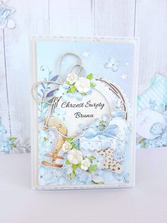 Paper Flower Tutorial, Baby Cards, Paper Flowers, Cardmaking, New Baby Products, Passion, Scrapbook, Invitations, Shapes