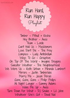 Running playlist for my next half marathon!