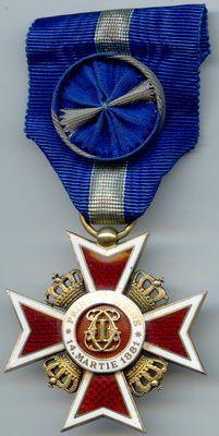 Знак Ордена Короны Румынии. Офицер.