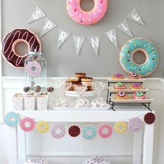 Satisfy your craving for some fun with these sweet Inflatable Donuts. With bright designs including frosting and yummy sprinkles, these delightful donuts are . Baby Shower Desserts, Baby Shower Themes, Baby Shower Gifts, Sprinkle Shower, Baby Sprinkle, Sprinkle Party, Donut Birthday Parties, Donut Party, Cupcake Party