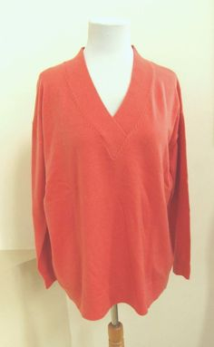 NWT Gap Red Tunic Sweater M Cosy V-Neck Pullover Wool Blend ...