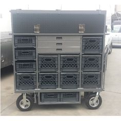 8 Crate custom LED cart with storage compartment
