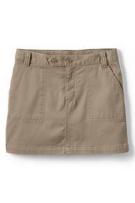 School Uniform 2-Button Stretch Skort Above Knee