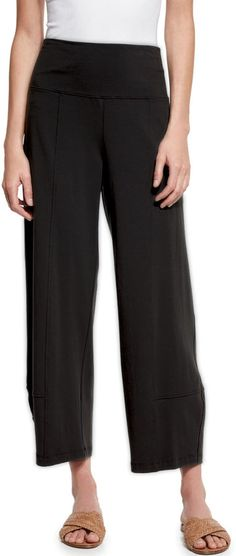 Eileen Fisher Fold-Waist Cropped Lantern Pants, Women's
