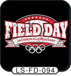 A popular Olympic / Field day t-shirt design! Customize with your own colors, text, and mascot! spiritwear.com