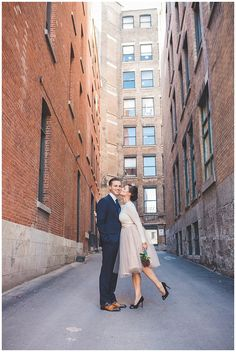 Vintage Elopement in Old Montreal - Wedding Photography by Kristin Zabos