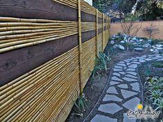 Backyard design idea: beautiful bamboo fencing