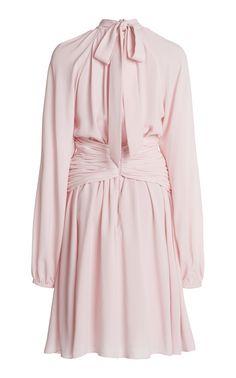 Draped Crepe Mini Dress by Giambattista Valli India Fashion, Pink Fashion, Fashion 2020, Runway Fashion, Fashion Models, Fashion Outfits, Womens Fashion, Dress Fashion, Marriage Dress