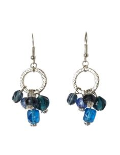 cleo - Blue Glass Bead Earring