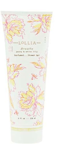 Lollia peony & white lily shower gel - bridal shower prize