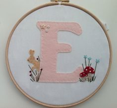 Hey, I found this really awesome Etsy listing at https://www.etsy.com/listing/220489364/woodland-theme-nursery-hoop-art-initial