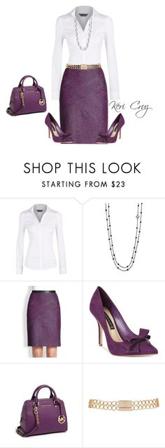 """Cute work outfit"" by keri-cruz ❤ liked on Polyvore featuring Dorothy Perkins, David Yurman, TIBI, Steve Madden, MICHAEL Michael Kors and River Island"