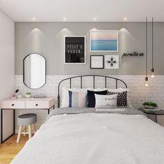 A imagem pode conter: quarto e área interna Elegant Home Decor, Elegant Homes, Small Room Bedroom, Home Decor Bedroom, Dream Rooms, Dream Bedroom, Diy Zimmer, New Room, Girl Room