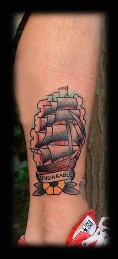 old school boat tattoo