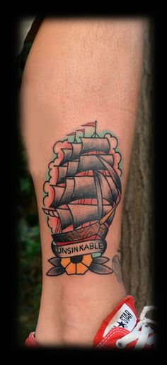 old school boat tattoo