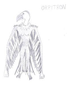 Orpitron - człowiek sęp.