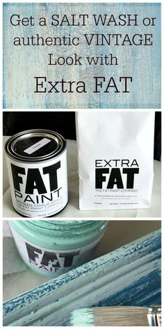 Get the salt wash layered patina and aged look with Extra FAT from The FAT Paint Company