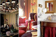 Cute hotel in Paris Paris Hotels, Oversized Mirror, Spaces, Furniture, Home Decor, Homemade Home Decor, Home Furnishings, Decoration Home, Arredamento